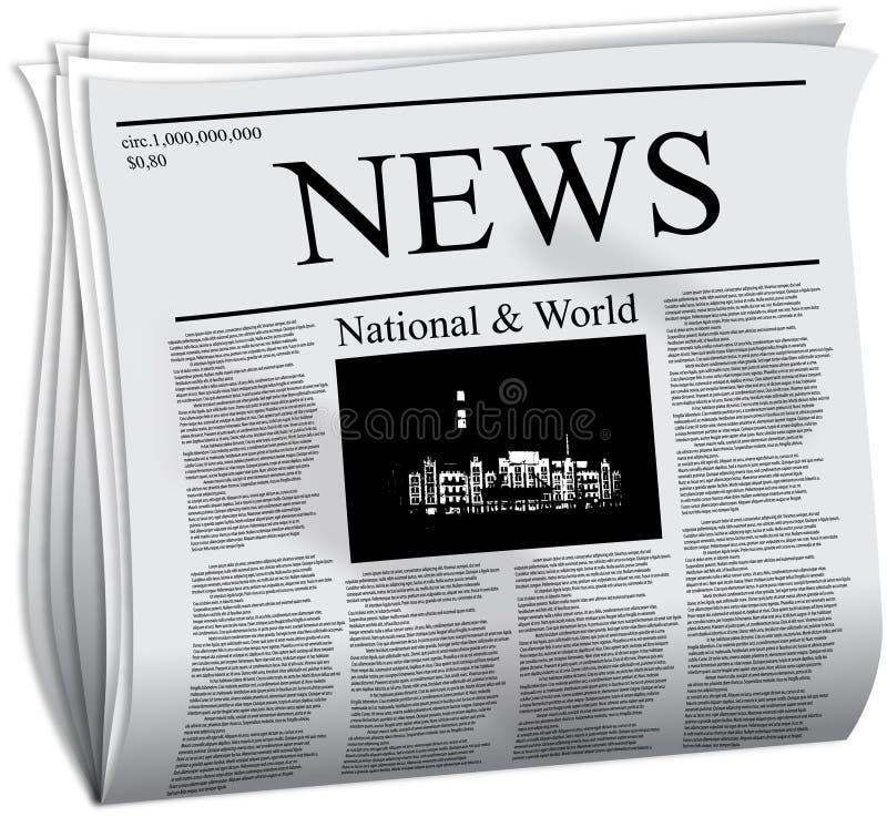 Zeitung lizenzfreie abbildung