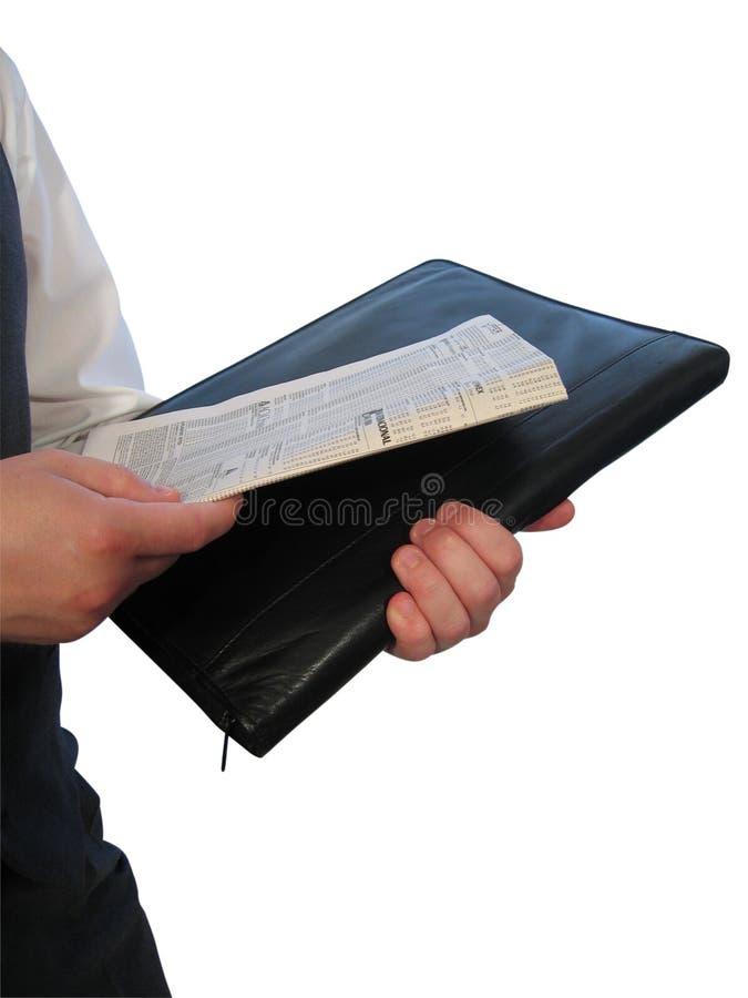 Zeitung auf Aktenkoffer II