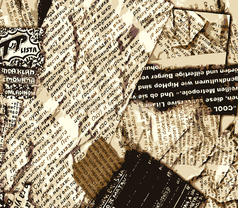 Zeitung grunge Farbe stock abbildung