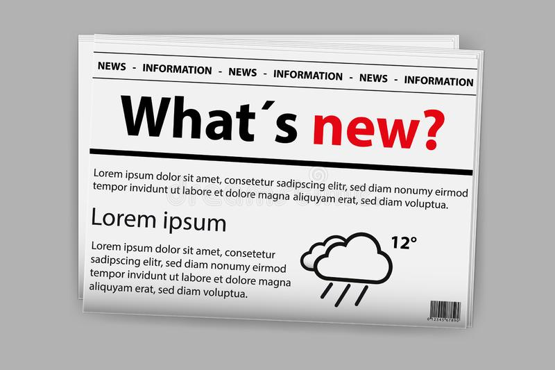Zeitung mit dem Text, Wetter-Ikone und Barcode - Vektor-Illustration - lokalisiert auf Gray Background lizenzfreie abbildung