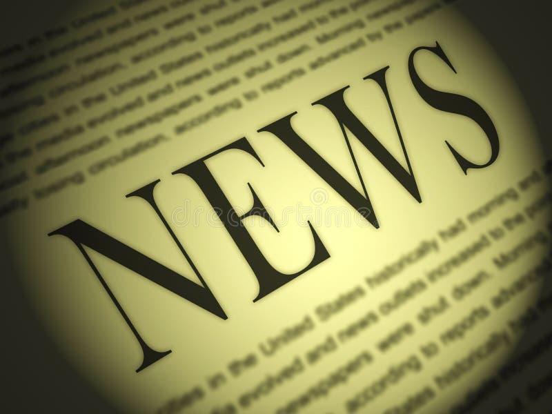 Zeitung zeigt Medien-Journalismus-Zeitungen und Schlagzeilen lizenzfreie abbildung