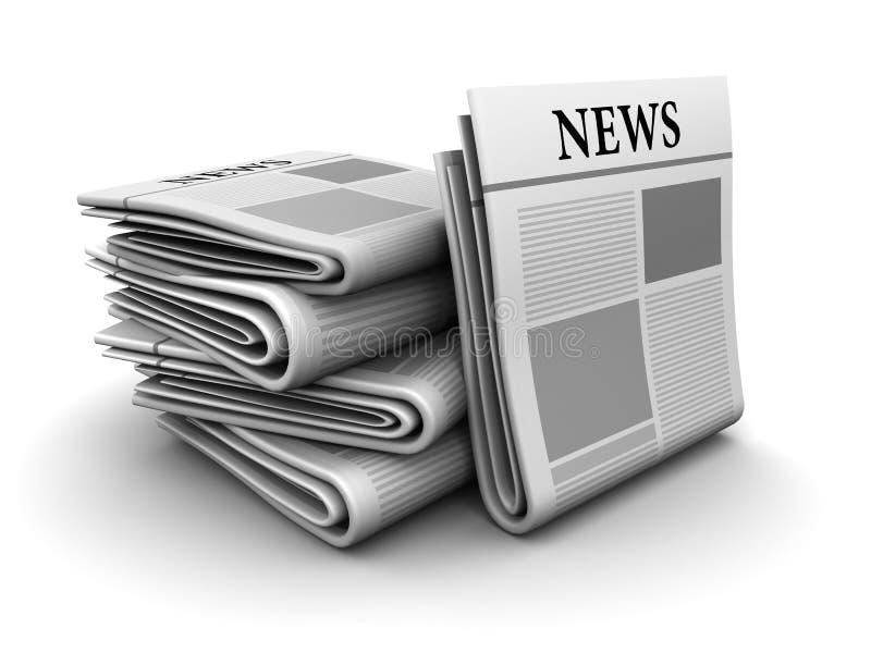 Zeitungen stock abbildung