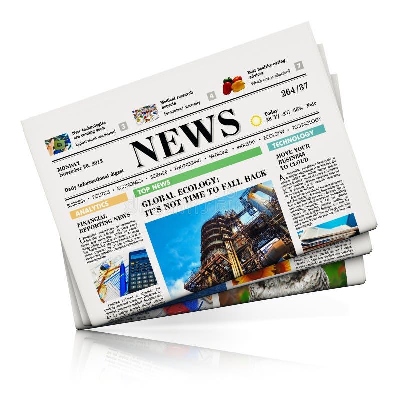 Zeitungen lizenzfreie abbildung