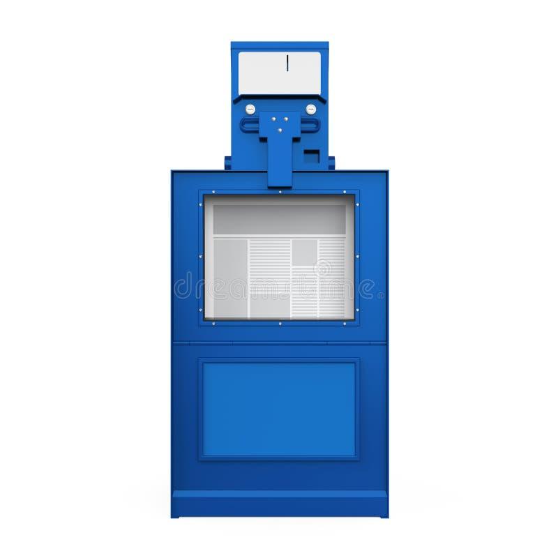 Zeitungs-Automat lokalisierte stock abbildung