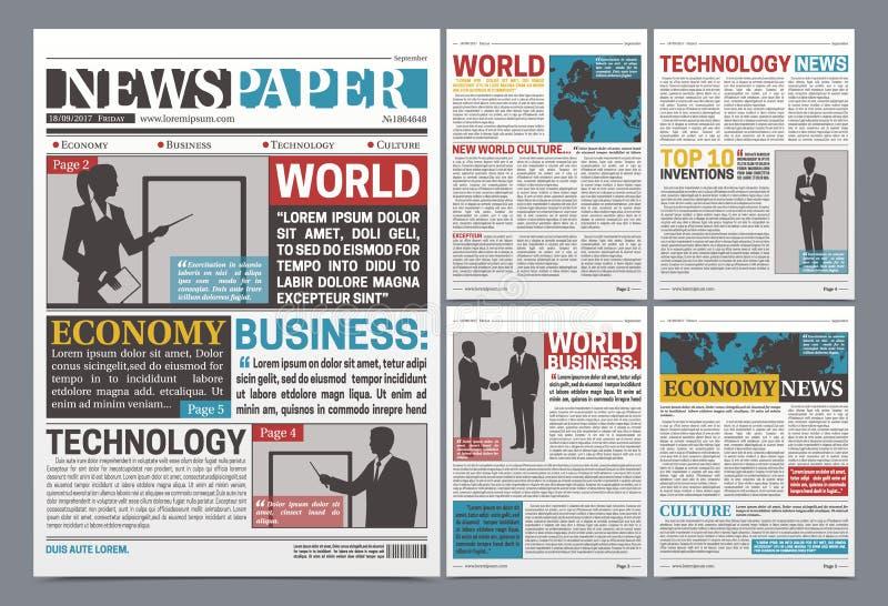 Zeitungs-on-line-Schablonen-realistisches Plakat lizenzfreie abbildung