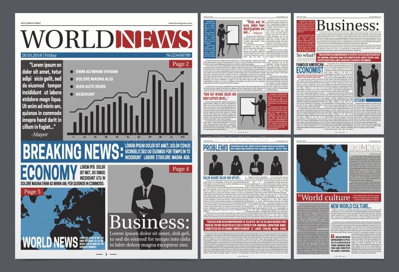 Zeitungs-offenes realistisches Schablonen-Design lizenzfreie abbildung