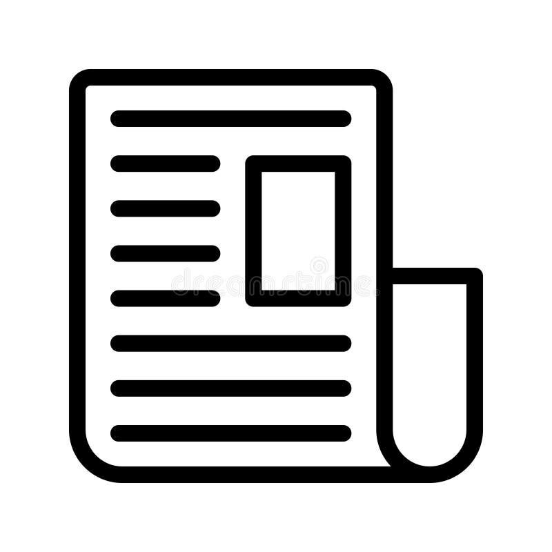 Zeitungs-Vektor-Linie Ikone vektor abbildung