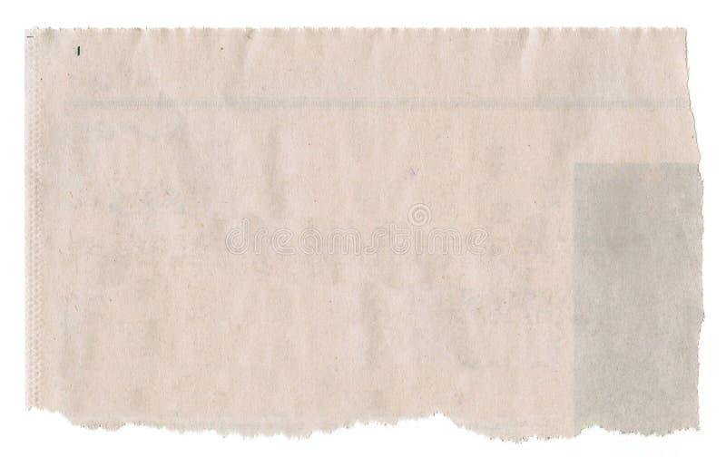 Zeitungsausschnitt stockfotografie