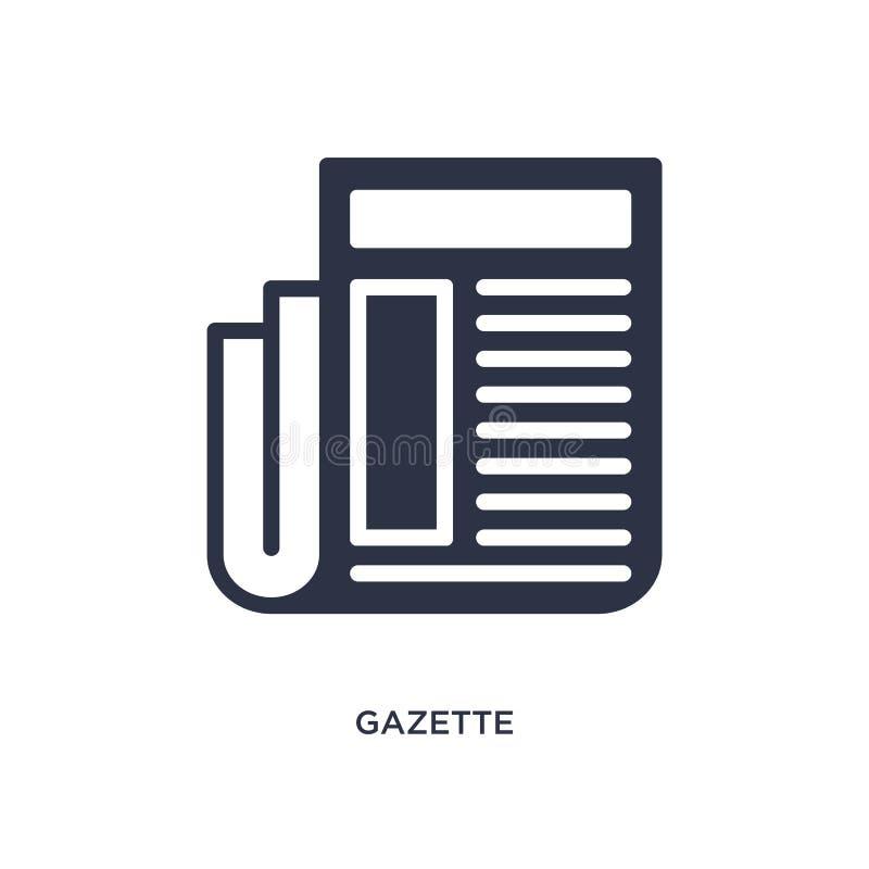 Zeitungsikone auf weißem Hintergrund Einfache Elementillustration von vermarktendem Konzept lizenzfreie abbildung