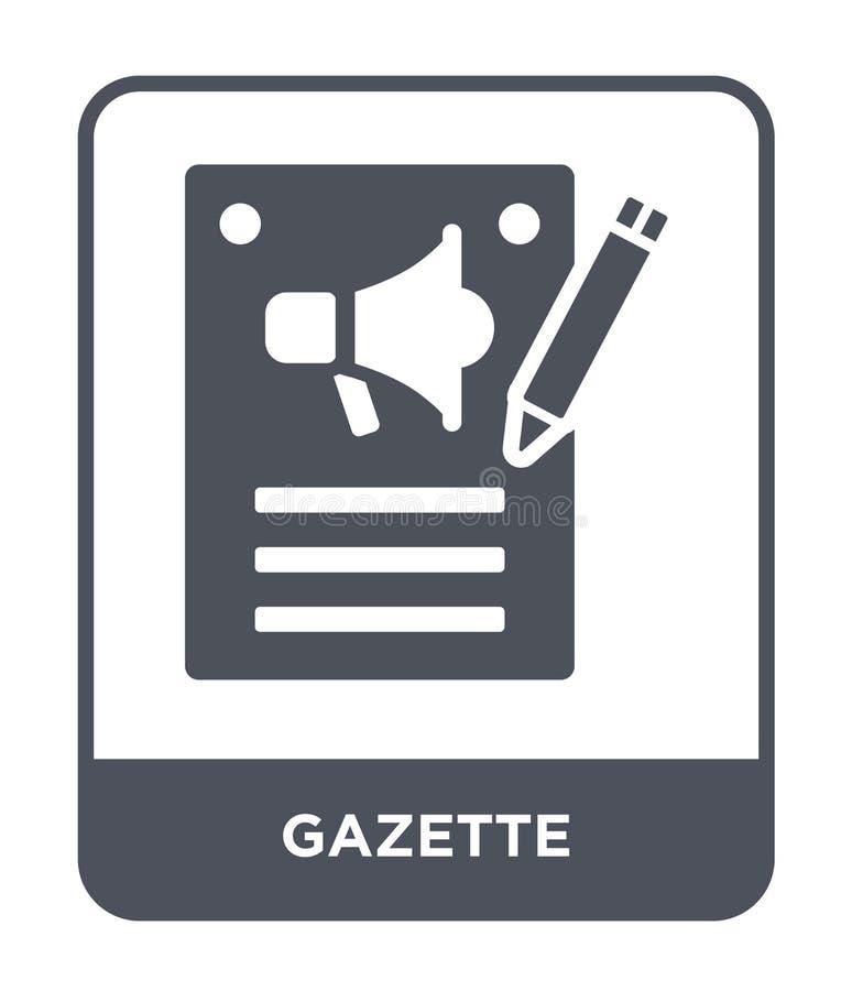 Zeitungsikone in der modischen Entwurfsart Zeitungsikone lokalisiert auf weißem Hintergrund einfaches und modernes flaches Symbol lizenzfreie abbildung