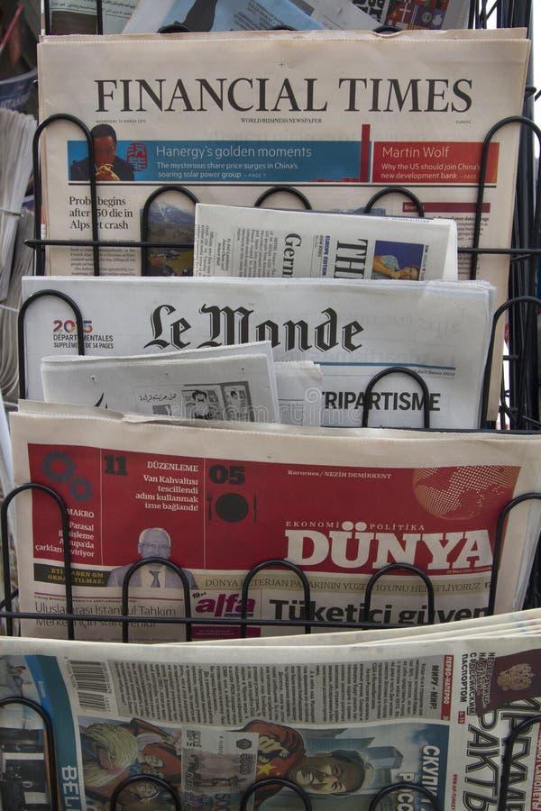Zeitungskiosk stockfotos