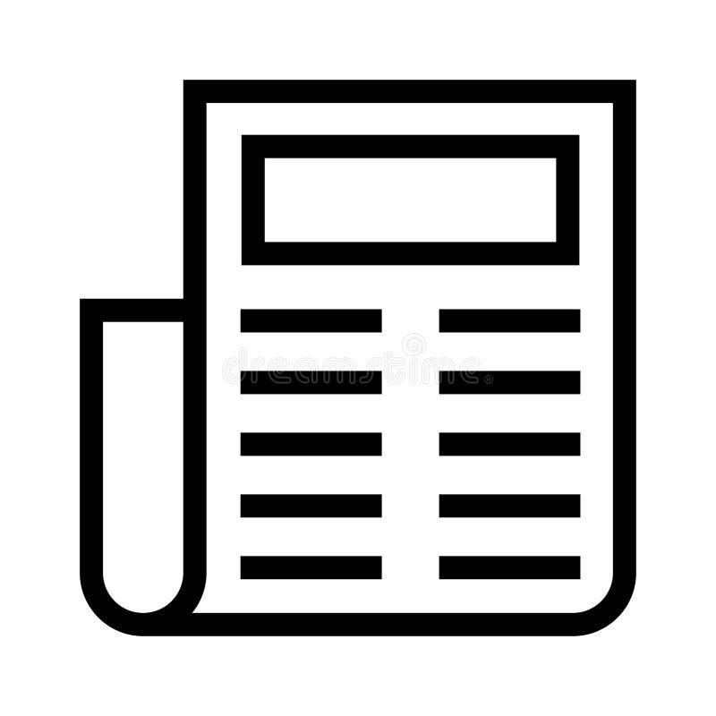 Zeitungslinie Ikone lizenzfreie abbildung