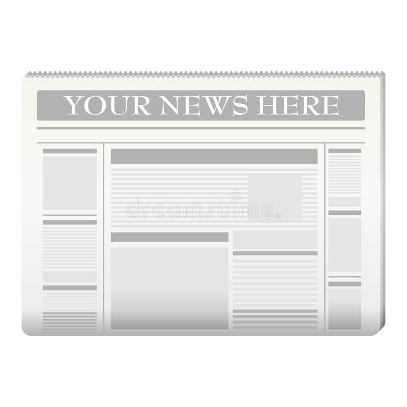 Zeitungsschablone lizenzfreie abbildung
