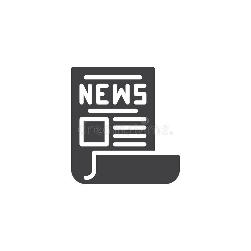 Zeitungsschlagzeilen-Vektorikone stock abbildung