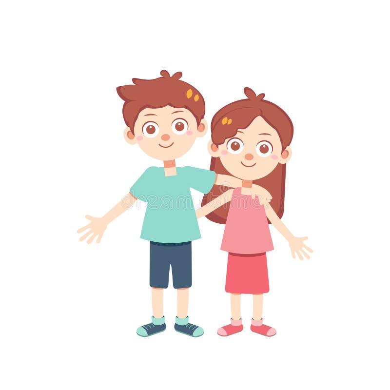 Zeitvektor der glücklichen Paare lokalisierte vektor abbildung