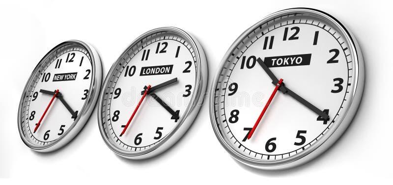 Zeitzone lizenzfreie abbildung