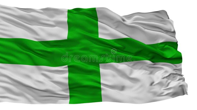 Zejtun市旗子,马耳他,隔绝在白色背景 皇族释放例证