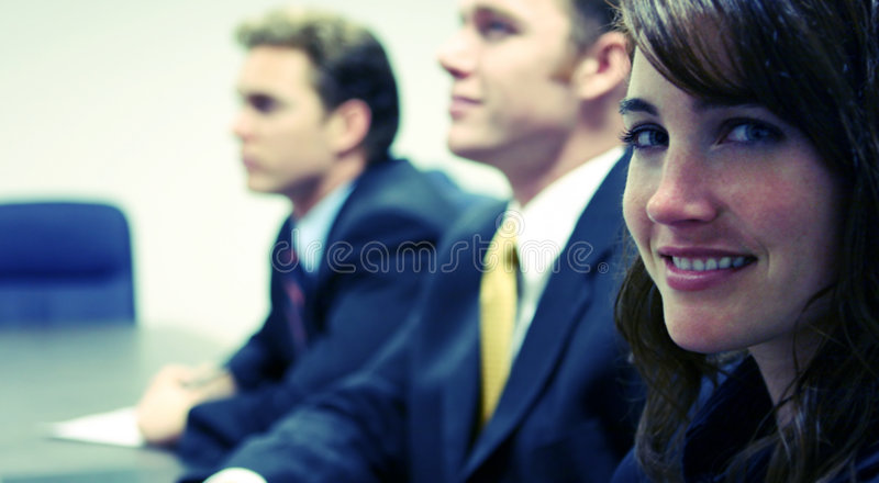 Zeker commercieel team royalty-vrije stock foto