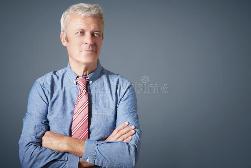 Zeker hoger mensenportret royalty-vrije stock foto