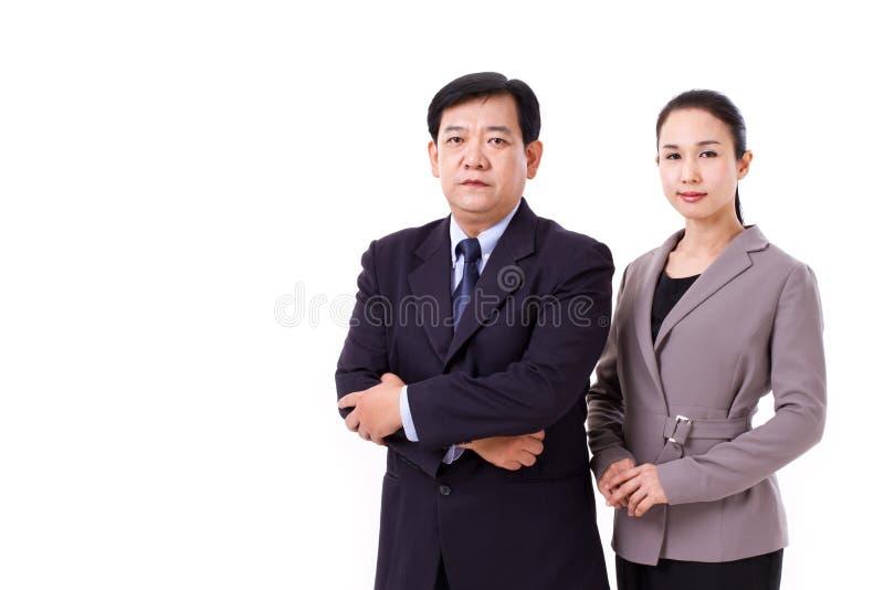 Zeker, succesvol paar hogere managers royalty-vrije stock foto