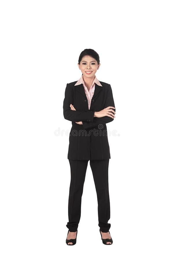 Zekere Aziatische bedrijfsvrouw stock foto