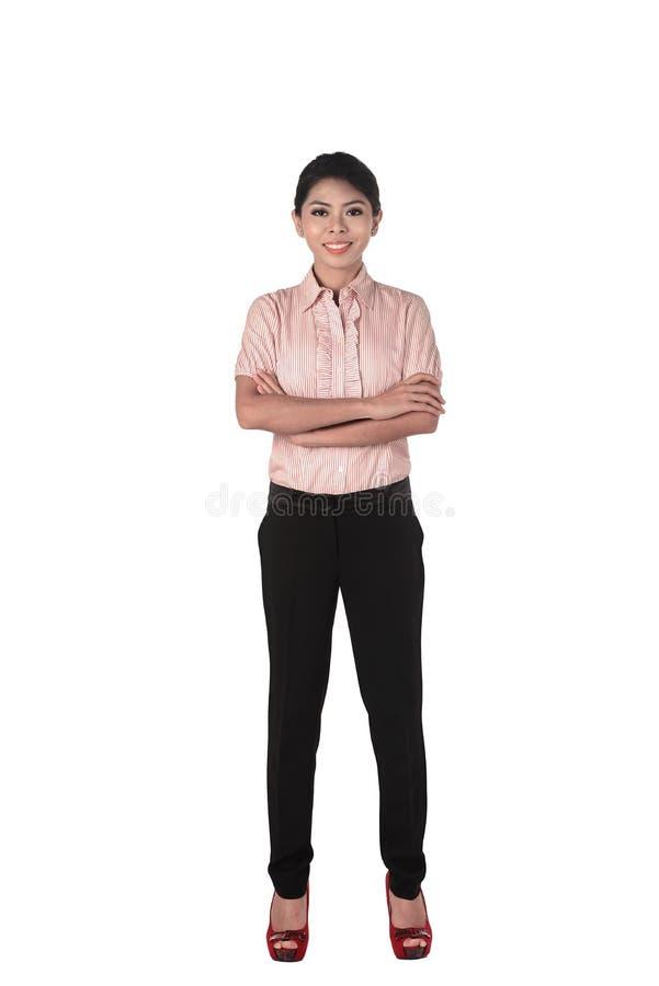 Zekere Aziatische bedrijfsvrouw stock foto's