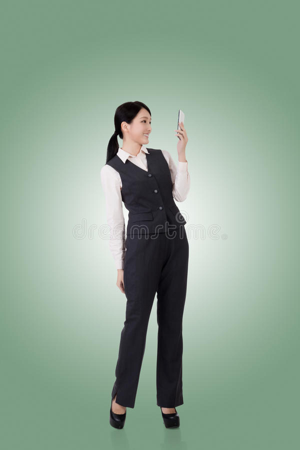 Zekere Aziatische bedrijfsvrouw stock afbeeldingen