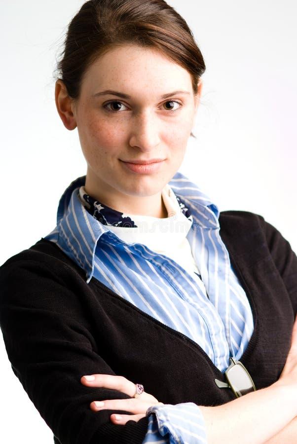 Zekere bedrijfsvrouw of tiener stock afbeelding