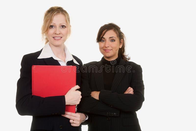 Zekere bedrijfsvrouwen royalty-vrije stock foto