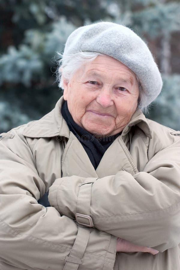 Zekere bejaarde royalty-vrije stock foto