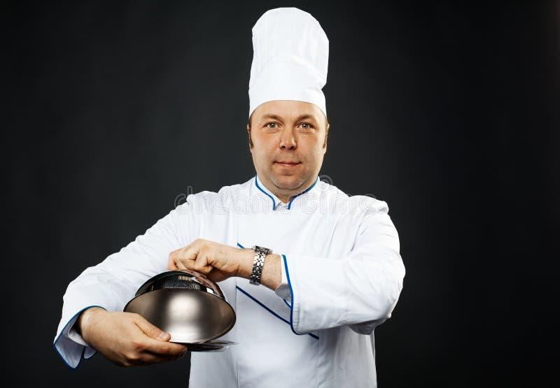 Zekere chef-kok stock foto's