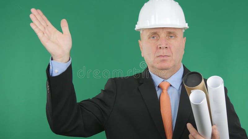 Zekere de Handgebaren van Ingenieursimage saluting with royalty-vrije stock fotografie