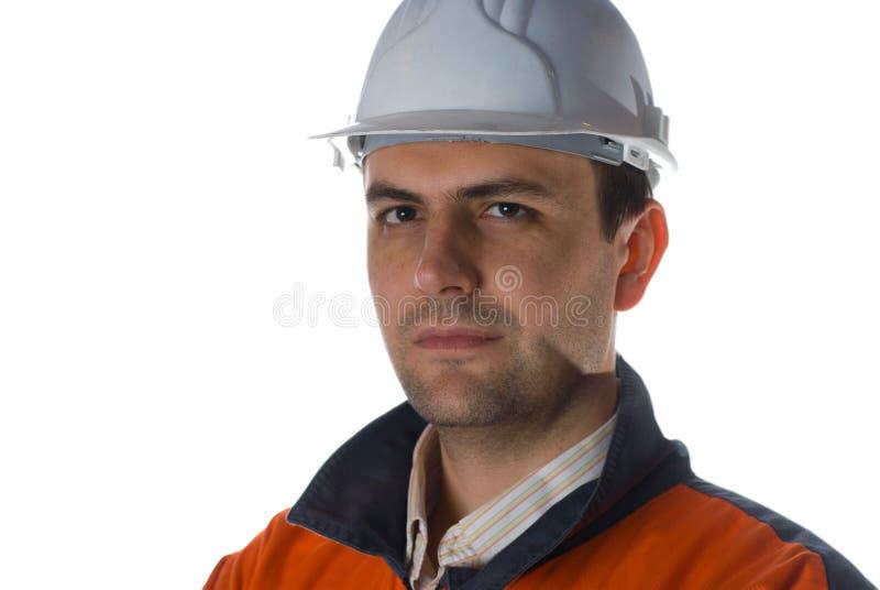 Zekere geïsoleerdee Ingenieur stock foto's