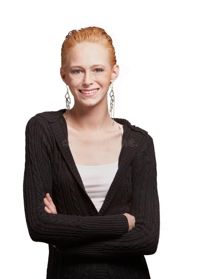 Download Zekere jonge vrouw stock foto. Afbeelding bestaande uit aantrekkelijk - 29514690