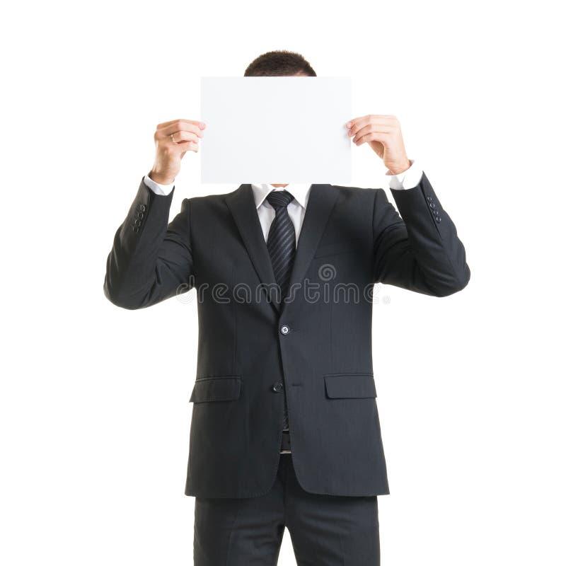 Zekere mens in formalwear Zakenman in kostuum op wit wordt geïsoleerd dat royalty-vrije stock afbeelding