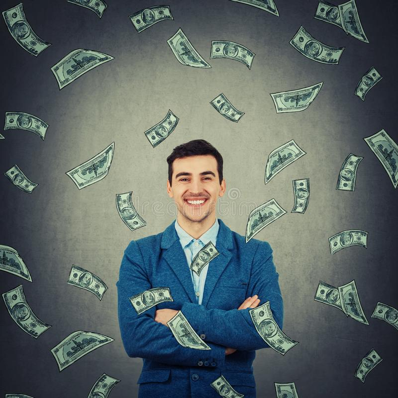Zekere rijke zakenman stock foto's