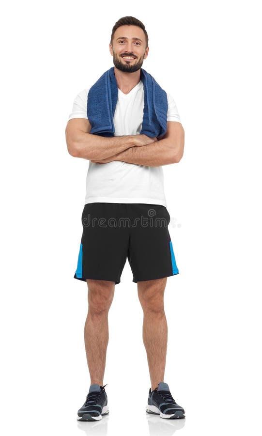 Zekere sportman royalty-vrije stock fotografie