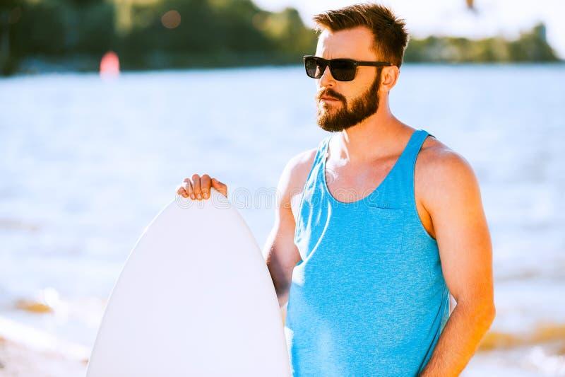 Zekere surfer royalty-vrije stock fotografie