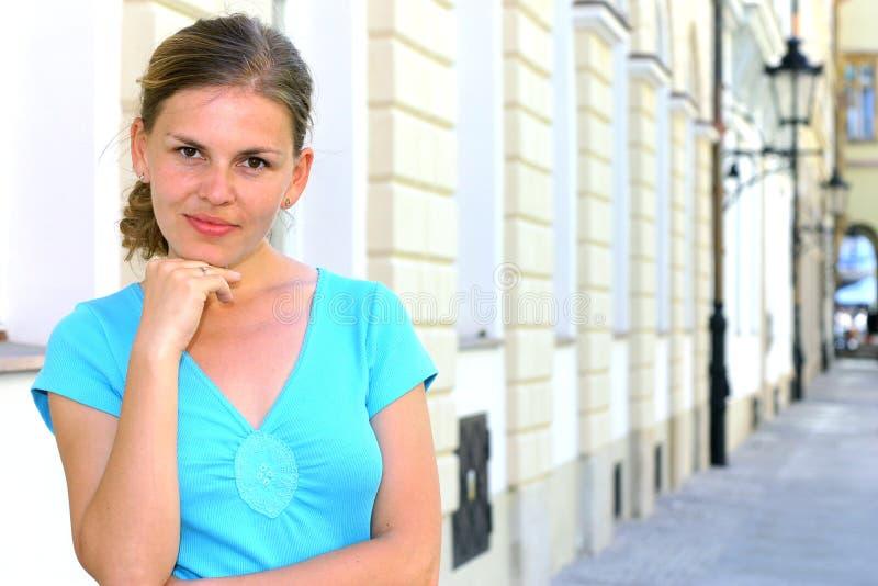 Zekere vrouw royalty-vrije stock fotografie