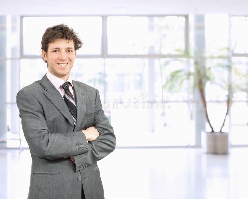 Zekere zakenman stock fotografie