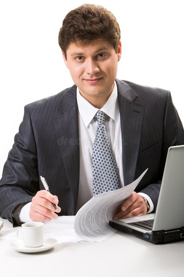 Zekere zakenman stock afbeeldingen