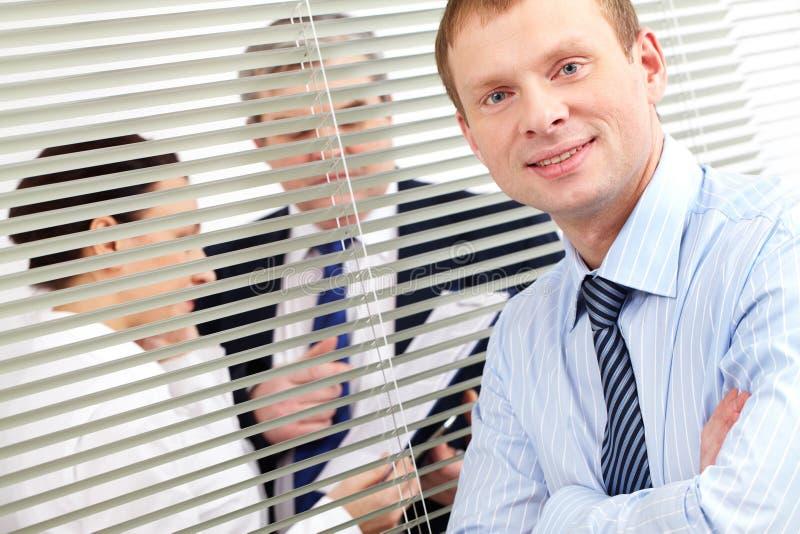 Zekere zakenman stock foto