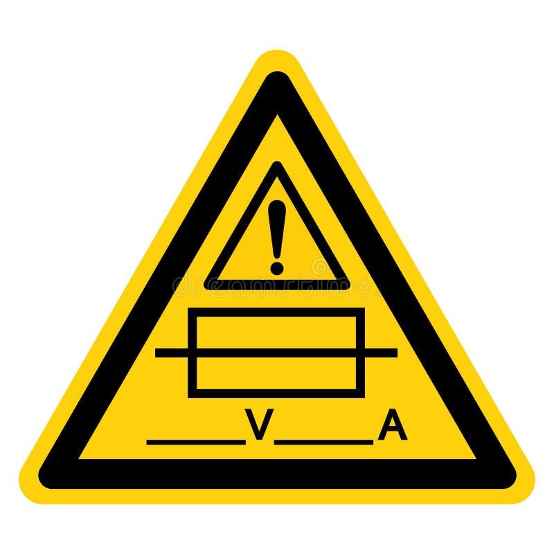 Zekering ( Writable) Het symboolteken isoleert op Witte Achtergrond, Vectorillustratie vector illustratie