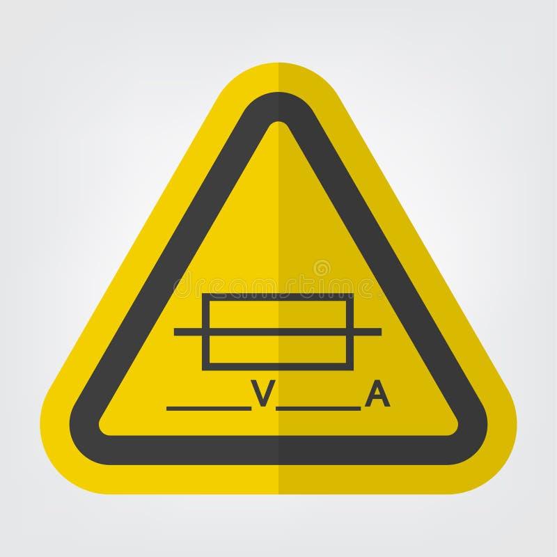 Zekering ( Writable) Het symboolteken isoleert op Witte Achtergrond, Vectorillustratie EPS 10 stock illustratie