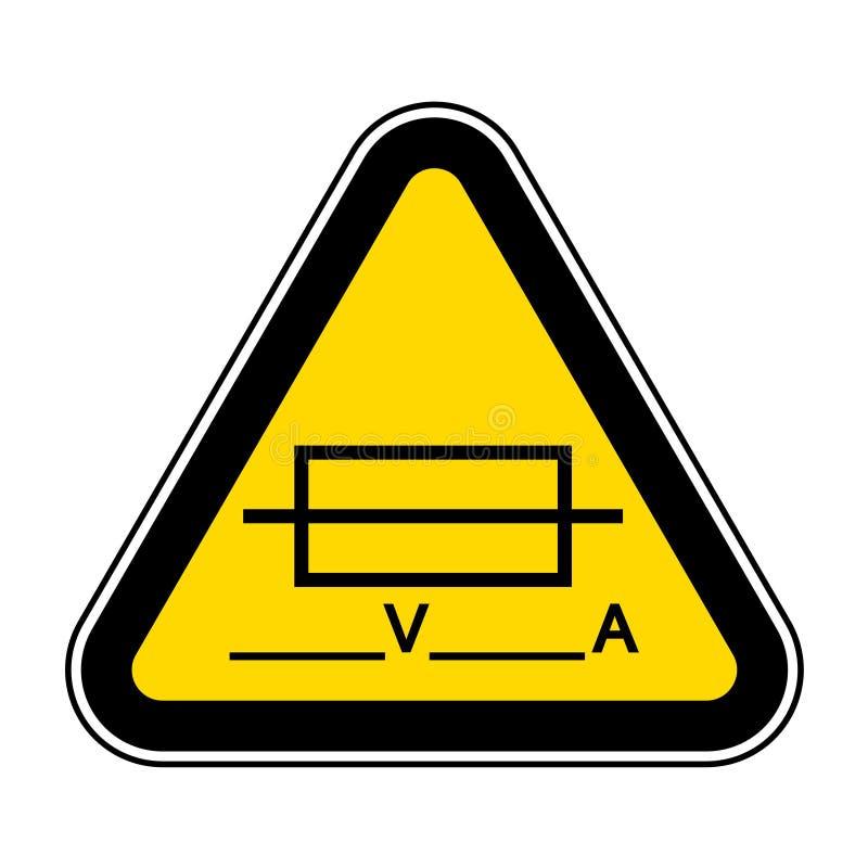 Zekering ( Writable) Het symboolteken isoleert op Witte Achtergrond, Vectorillustratie EPS 10 royalty-vrije illustratie