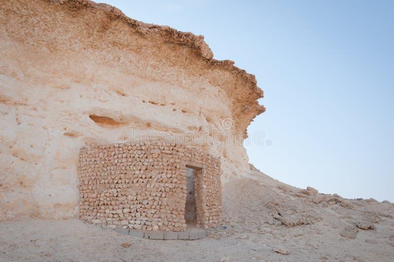 Zekreet-Wüste, Doha, Katar lizenzfreie stockfotografie
