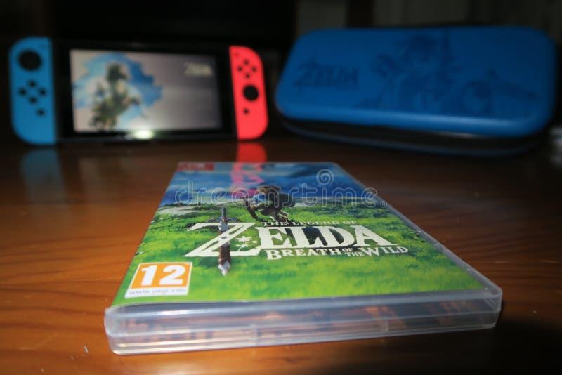 Zelda och strömbrytare fotografering för bildbyråer