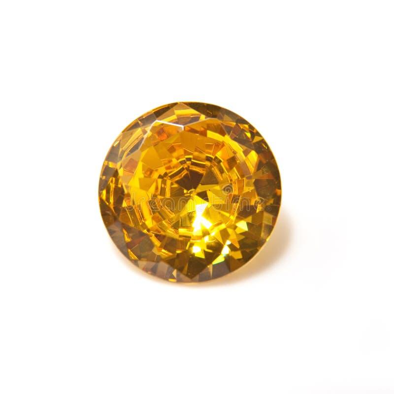 Zeldzame gele diamant royalty-vrije stock afbeeldingen