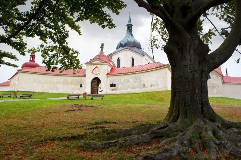 Zelena Hora near Zdar nad Sazavou, Czech Republic royalty free stock image