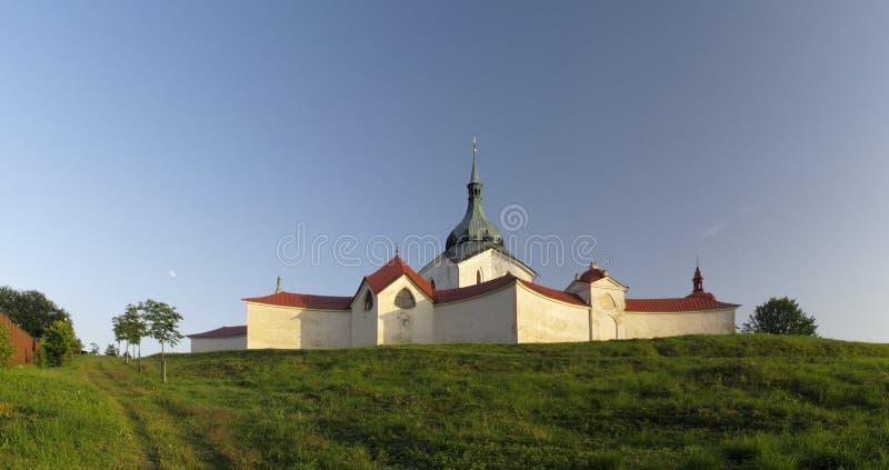 zelena st nepomuk john hora церков стоковое изображение